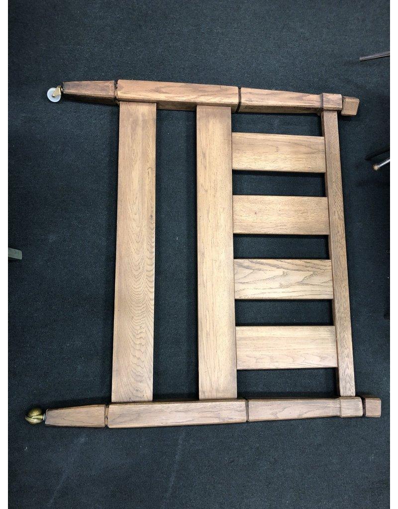 Gray Oak Twin Bed w/ Rails
