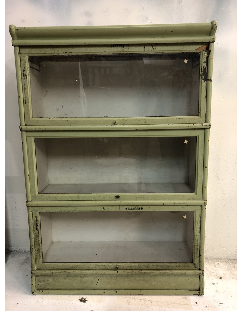 Green Painted Barrister Bookcase