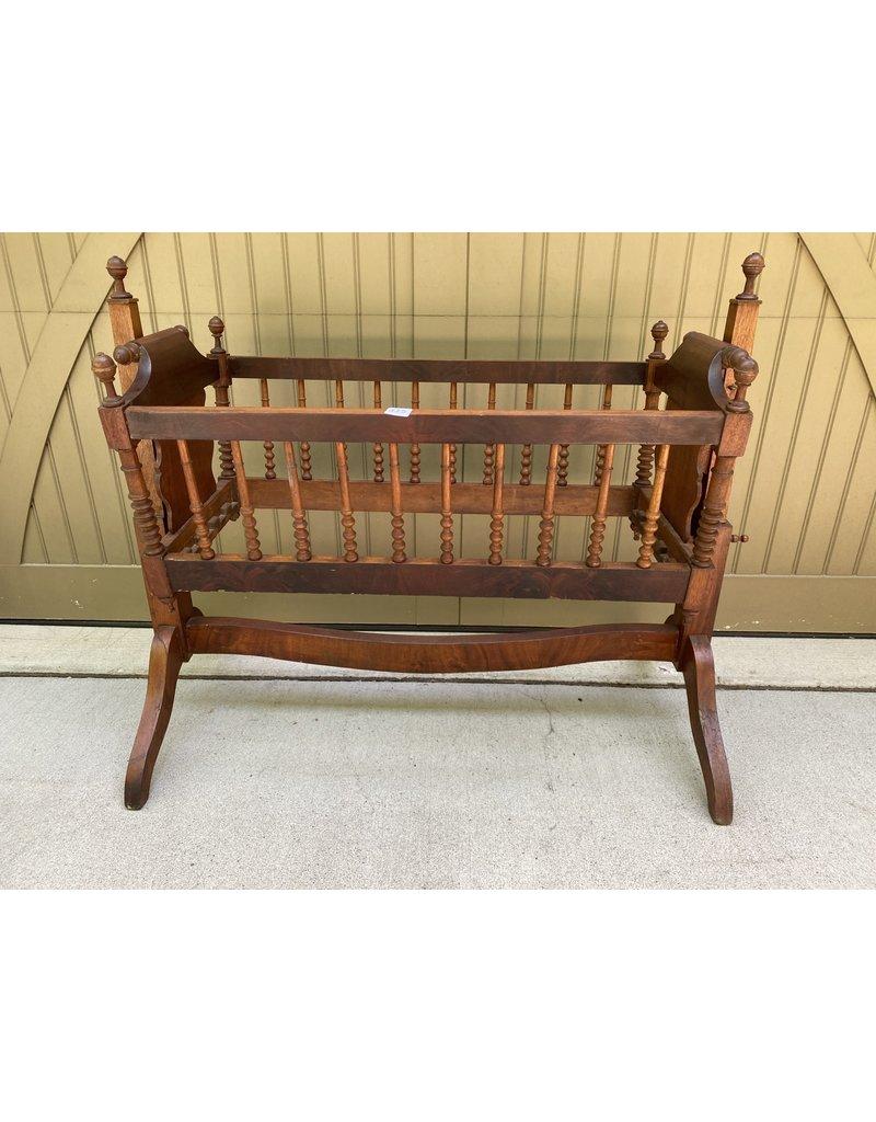 Victorian Style Walnut Crib