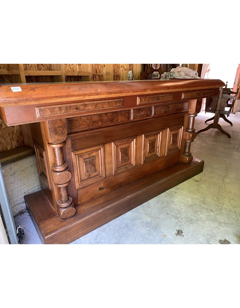 Custom Made Solid Wood Bar Repurposed From Old Wood