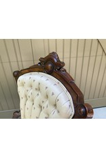 Set of 4 Victorian Style Upholstered Parlor Chairs