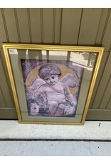 Gold Framed Angel Print