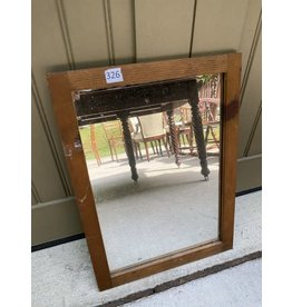 Small Wood Framed Mirror