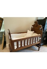 Highly Carved East Lake Victorian Crib