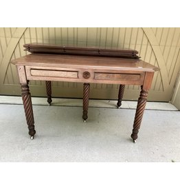 Victorian Mahogany Extension Table w/ 4 Leaves