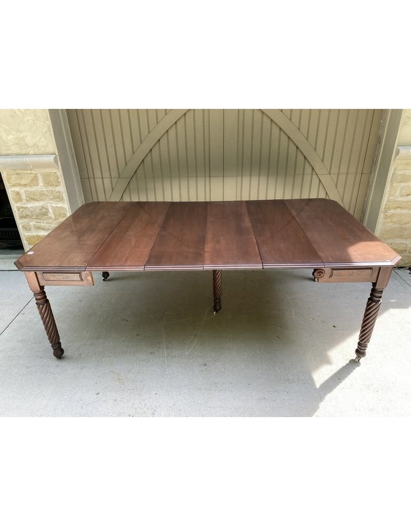 Victorian Mahogany Extension Table w/ 5 Leaves