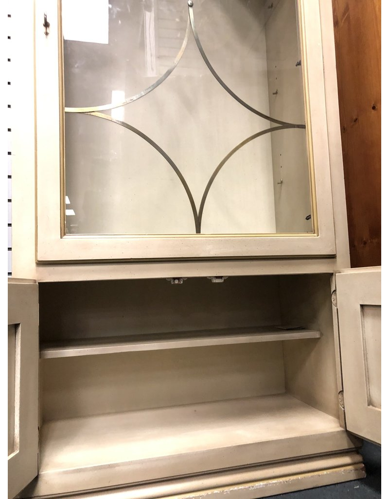 Blonde Dome Bookshelf w/ Glass Door