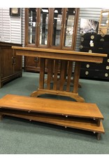 Mission Style Dining Table w/ 2 Leaves