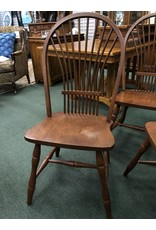 Set of 4 Dark Oak Dining Chairs