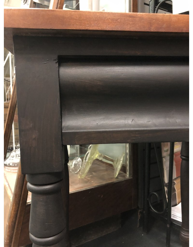 Two Toned Black/Wood Sidetable