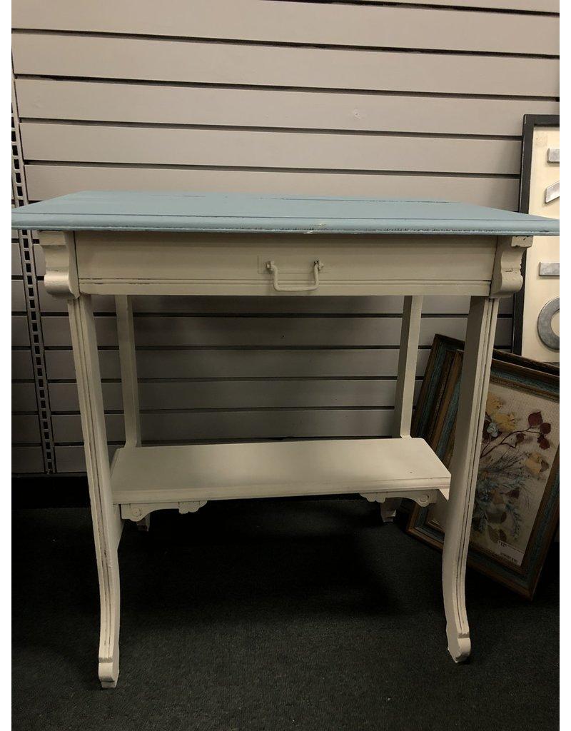 Blue/White Heirloom Painted Sidetable