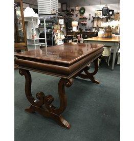 Dark Wood Desk w/ Scroll Legs