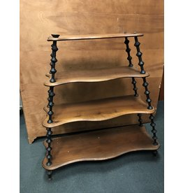 2 Toned Open Shelf w/ Spool Detail