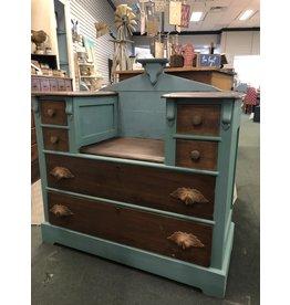 2 Toned Walnut Antique Dresser