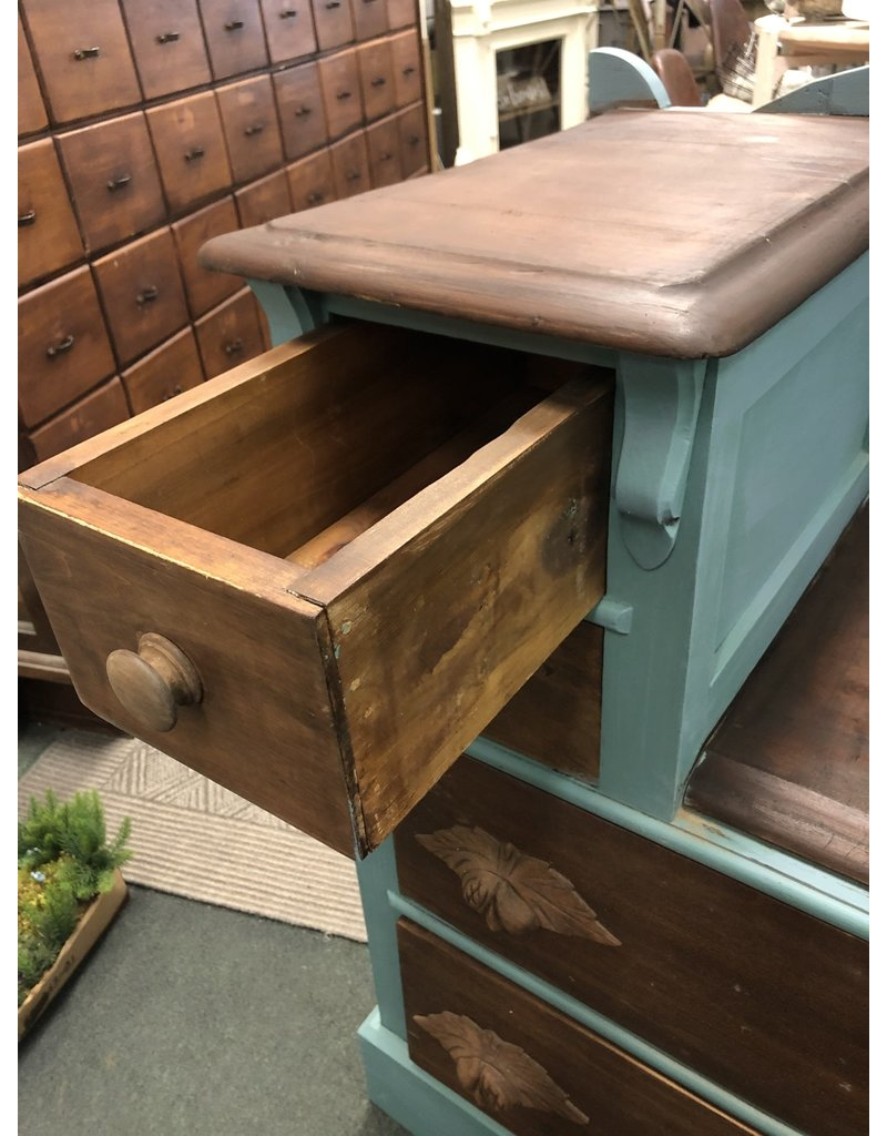 2 Toned Walnut Antique Dresser