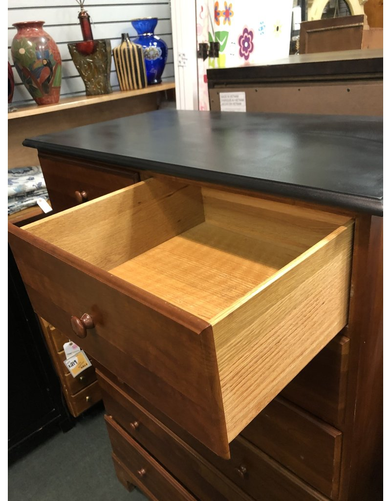7 Drawer Chest w/ Black Top