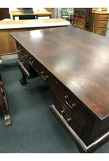 Large Clawfoot Dark Wood Partners Desk