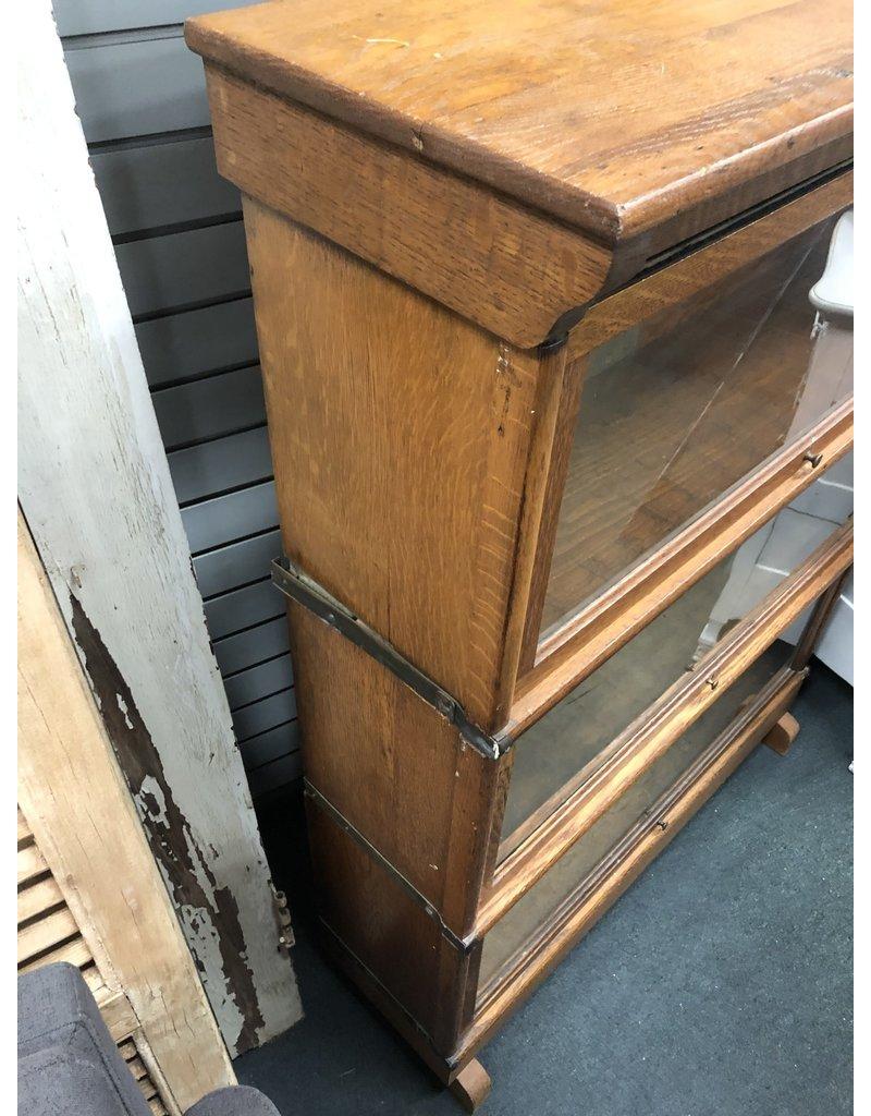 Dark Oak Barrister Bookcase