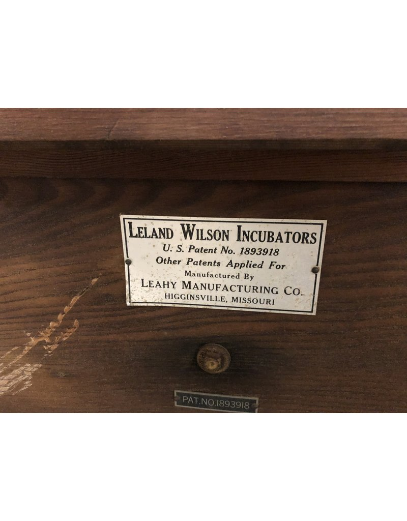 Antique Leland Wilson Incubator (as is)