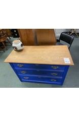 Blue Painted Oak Top 3 Drawer Dresser