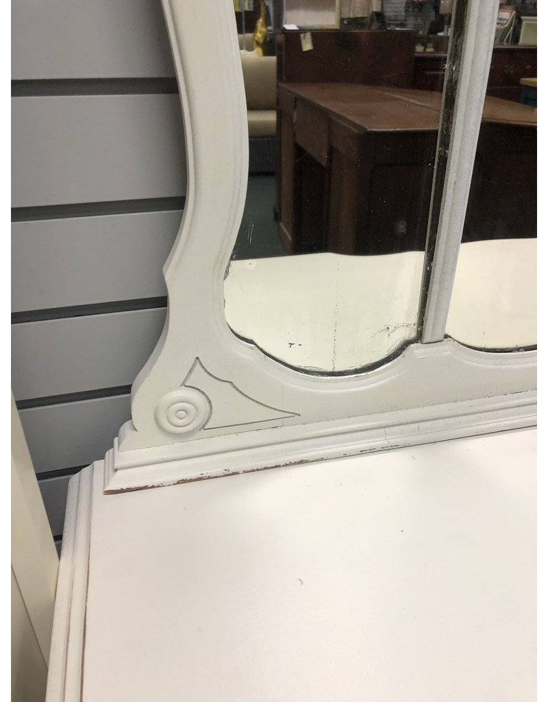 White Painted Vanity w/Mirror