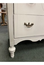 1940's White Painted Dresser w/ Mirror