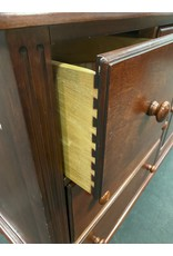 Dark Wood Dresser w/ Cabinet Door