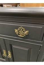 Black Painted Nightstand w/ Cabinet Door