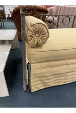 Iron Day Bed w/ Gold Uphostered Seat
