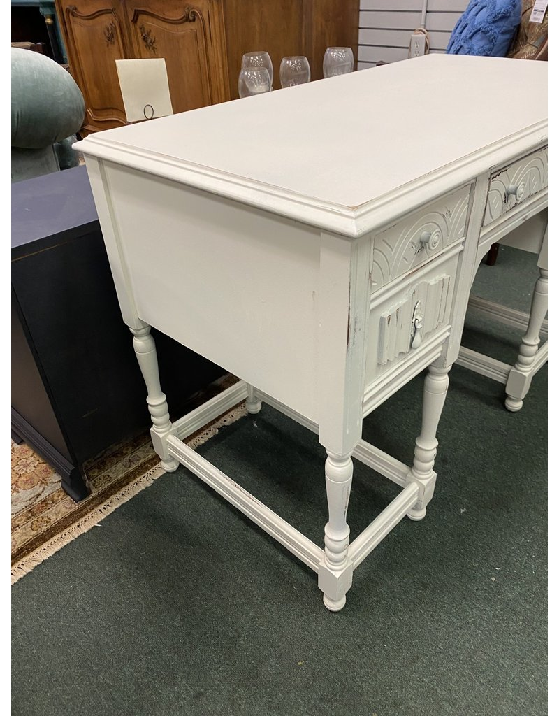 White Painted Student Desk w/ Drawers