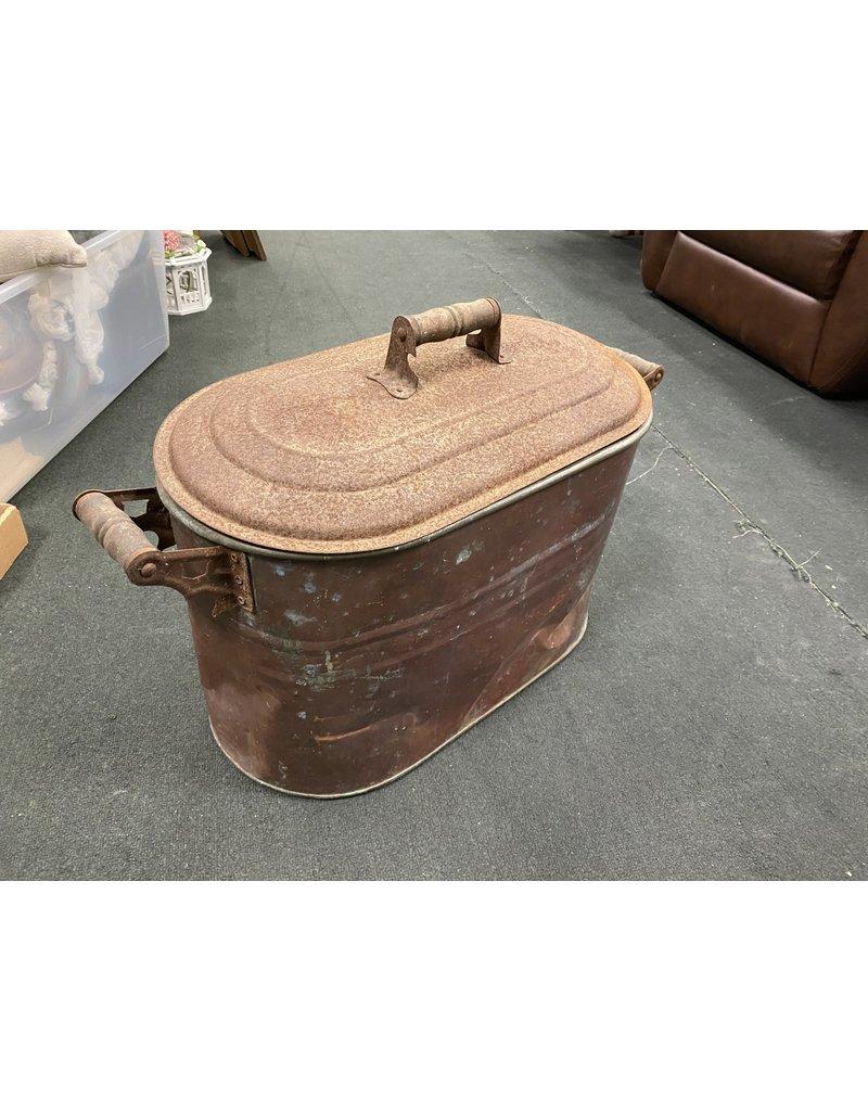 Metal Copper Pot w/ Lid