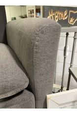 Gray Arm Chair w/ Blonde Legs
