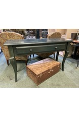 Tall Green Stained Sofa Table w/ Drawer
