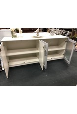 White and Gray Modern Office Credenza