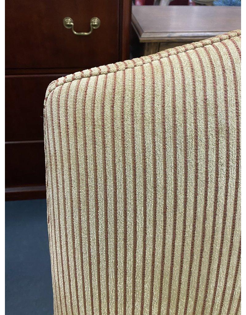 Mustard Striped Chair w/ Ottoman