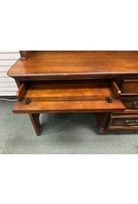 Dark Wood Desk w/ Hutch Top