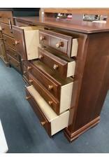 Dark Pine Tall 9 Drawer Dresser