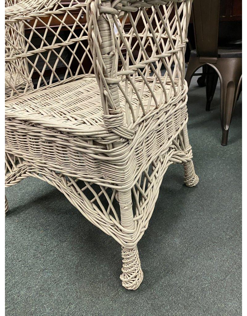 Tan Wicker Outdoor Chair