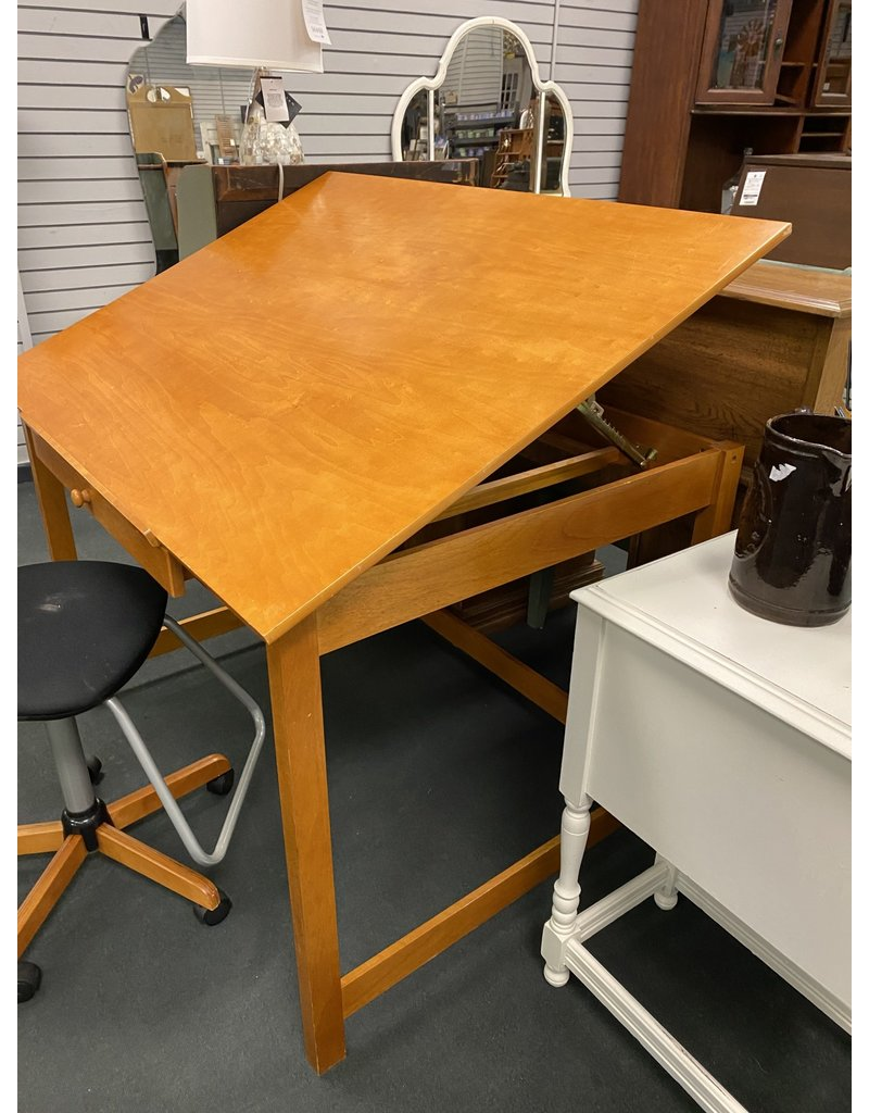 Pine Drafting Table w/ Matching Chair