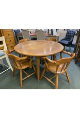 Vintage Pine Table and 4 Chairs