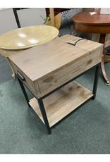 Gray Driftwood Media Side Table