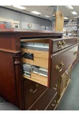 Dark Mahogany Lateral 4 Drawer File Cabinet