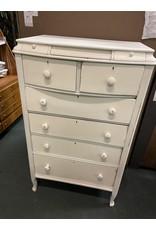 Tall White Antique Dresser