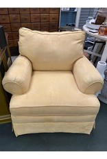 Yellow Microfiber Rolled Arm Chair
