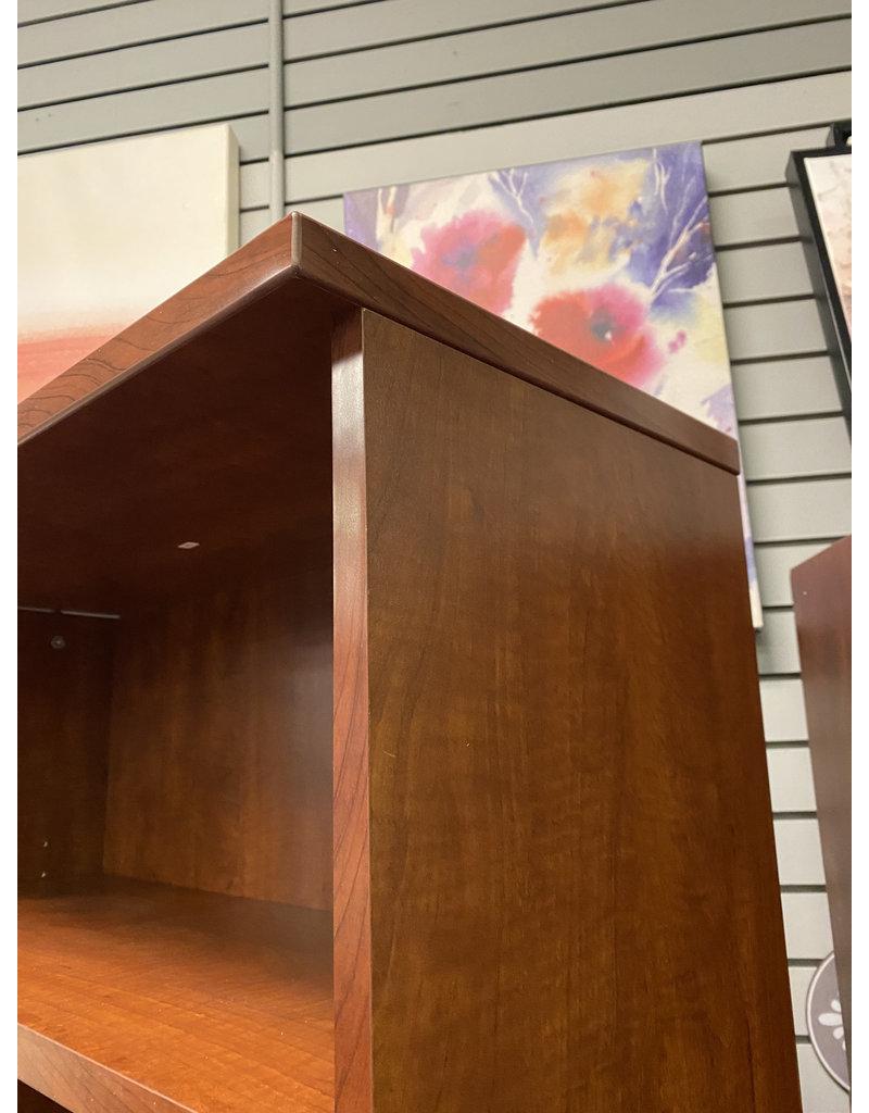 Tall Dark Wood Bookshelf