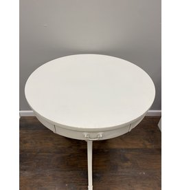 White Painted Mahogany Drum Table by Merseman