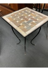 Small Mosaic Stone Outdoor Table