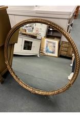 Round Gold Guilt Mirror