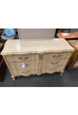 Blonde 6 Drawer French Style Dresser