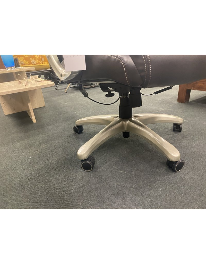 Brown Leather Computer Chair byTrue Wellnes